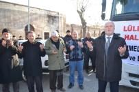 YARDIM KONVOYU - Halep'e Gidecek Tırlar Dualarla Uğurlandı