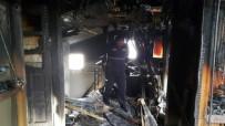Çatı Yangını İtfaiye Ekiplerince Söndürüldü