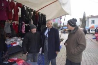 Başkan Yaman Pazar Esnafını Gezdi