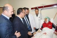 Bakanlar Terör Saldırısında Yaralananları Ziyaret Etti
