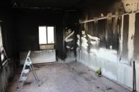 GIRNE - Çıkan Yangında Ev Kullanılamaz Hale Geldi