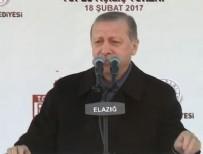 Cumhurbaşkanı Erdoğan Elazığ'da konuştu!