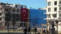 Patlamada Hasar Gören Binalar Branda İle Kapatıldı