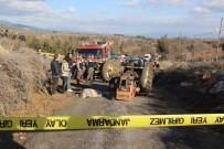 CENAZE ARACI - Traktör Devrildi, Karı-Koca Hayatını Kaybetti