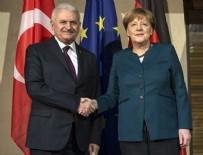 ANGELA MERKEL - Yıldırım - Merkel görüşmesi sona erdi