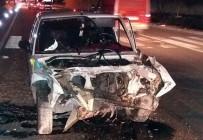 Beton Mikserine Çarpan Sürücü Yaralandı