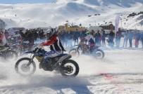 MUSTAFA ÇETIN - Davraz'da Motosnow Yarışları Nefes Kesti