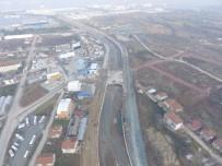 İSTİNAT DUVARI - Gölcük Hisar Deresi Köprülü Kavşağı'nda İnşaat Devam Ediyor