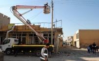 AYDINLATMA DİREĞİ - Nusaybin'de Elektrik Şebekesi Normale Dönüyor