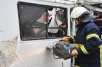 KURTARMA OPERASYONU - Bozüyük Belediyesi İtfaiye Ekibinden Hurda Araç Tatbikatı