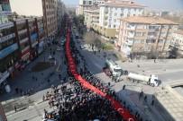 MEHMET TAHMAZOĞLU - Dev Türk Bayrağı İle Cumhurbaşkanı Erdoğan'a 'Evet' Desteği