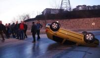Sakarya'da Otomobil Takla Attı Açıklaması 2 Yaralı