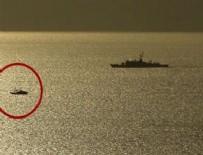EGE DENIZI - Gergin anlar! Türk savaş gemileri...