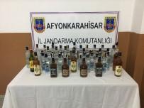 Jandarma Sahte İçki Ve Ruhsatsız Tabanca Ele Geçirdi