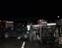 TRAFIK KAZASı - Tır faciaya sebep oldu: 2 ölü