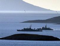 SAHİL GÜVENLİK - Türk ve Yunan savaş gemileri burun buruna