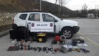 ÇALINTI ARAÇ - Hırsızlık Şebekesinin Aletleri Ele Geçirildi