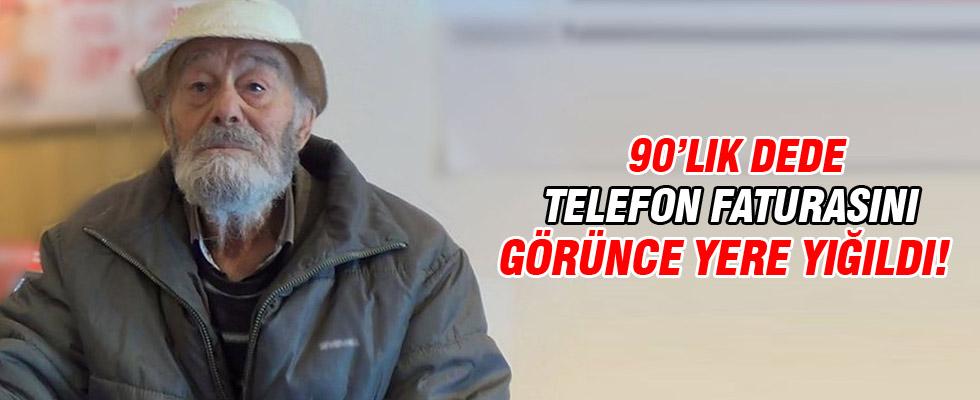 90'lık dede telefon faturasını görünce bayıldı