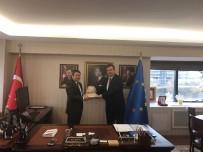 MISYON - GKV'li Yöneticiler AB Bakan Yardımcısı Ali Şahin'i Ziyaret Etti