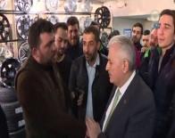 DÜKKAN YANGINI - Başbakan Yıldırım Esnaftan 'Evet' Yanıtı Aldı