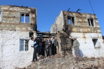 ELEKTRİK KONTAĞI - Beyşehir'de Evi Yanan Aileye Ziyaret