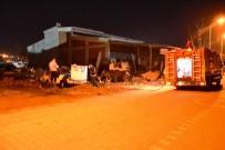 HURDA ARAÇ - Biga'da Hurda Araç Yandı
