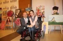 ESKİŞEHİR - Çakırözer, Engelli Kızın Daveti Üzerine Sergisini Ziyaret Etti