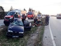 112 ACİL SERVİS - Otomobil Takla Attı Açıklaması 6 Yaralı