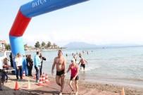OSMAN GÜRÜN - 11. Datça Açık Deniz Kış Yüzme Maratonu Yapıldı
