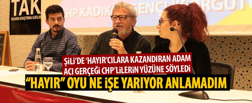 Acı gerçeği CHP'lilerin yüzüne söyledi!