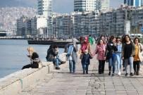KORDON - İzmirliler Güzel Havanın Tadını Çıkardı