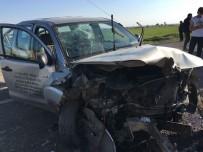 GÜNEBAKAN - Nusaybin'de Trafik Kazası Açıklaması 6 Yaralı