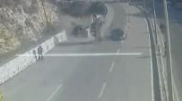 E-5 KARAYOLU - Seyir Halindeki Otomobilin Üzerine Başka Bir Araç Düştü