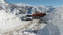 Artvin'in Macahel Bölgesinde Ağır Kış Şartları Hüküm Sürüyor
