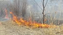 ANIZ YANGINI - Anız Yangınını İtfaiye Söndürdü