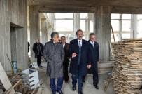 ABDULLAH ÖZER - Başkan Akgül, Başak Merkez Camii İnşaatını İnceledi