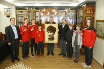 KASıRGA - Başarılı Sporculardan Başkan Kesimoğlu'na Ziyaret
