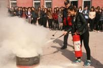 RADYOAKTİF - Öğrencilere Sivil Savunma Anlatılarak Yangın Eğitimi Verildi