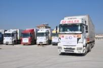 YARDIM KONVOYU - İHH Ve Kuveyt Kızılayı'ndan Suriye'ye 15 Tırlık Yardım
