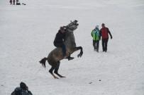 Buz Tutan Çıldır Gölü'nde Altın At Şahlandı