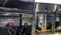 SERVİS ARACI - Servis Aracı Metrobüse Çarptı Açıklaması Yaralılar Var
