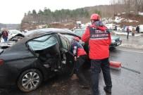 KANDILLI - Yoldan Çıkan Otomobil Defalarca Takla Attı Açıklaması 4 Yaralı
