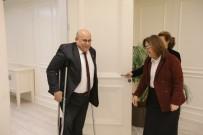 TEKERLEKLİ SANDALYE BASKETBOL - Engelsiz Gaziantep'ten Fatma Şahin'e Ziyaret