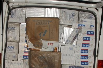 Mardin'de 60 Bin Paket Kaçak Sigara Ele Geçirildi