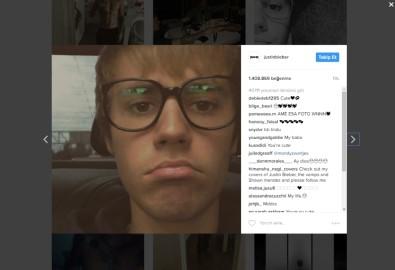 Justin Bieber Instagram'a döndü