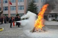 İTFAİYE MÜDÜRÜ - Lüleburgaz Meslek Yüksek Okulunda Yangın Tatbikatı