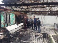 FELAKET - Başkan Uyan'dan Yangında Mağdur Olan Vatandaşa Destek