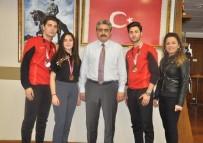 MİLLİ SPORCULAR - Milli Sporcu Gezgin Kardeşler Başkan Alıcık'dan Destek İstedi