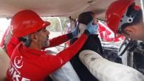 KURTARMA EKİBİ - Osmaniye'de Acil Müdahale Ve Yangın Tatbikatı Gerçeğini Aratmadı