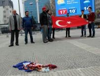 VATANSEVER - Samsun'da Hollanda Bayrağı Yakıldı